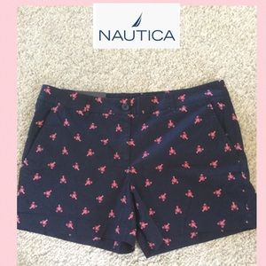 NWT Nautica SZ 14 navy blue with pink lobsters